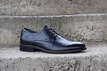 Чоловічі туфлі, сині, фото 3