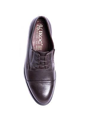 Шкіряні туфлі, коричневі., фото 2