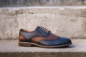 Туфлі синьо - коричневі., фото 2