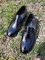 Туфлі лофери, чорні, фото 3