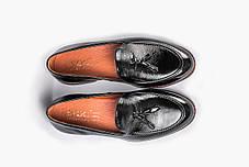 Туфлі лофери, чорні, фото 2