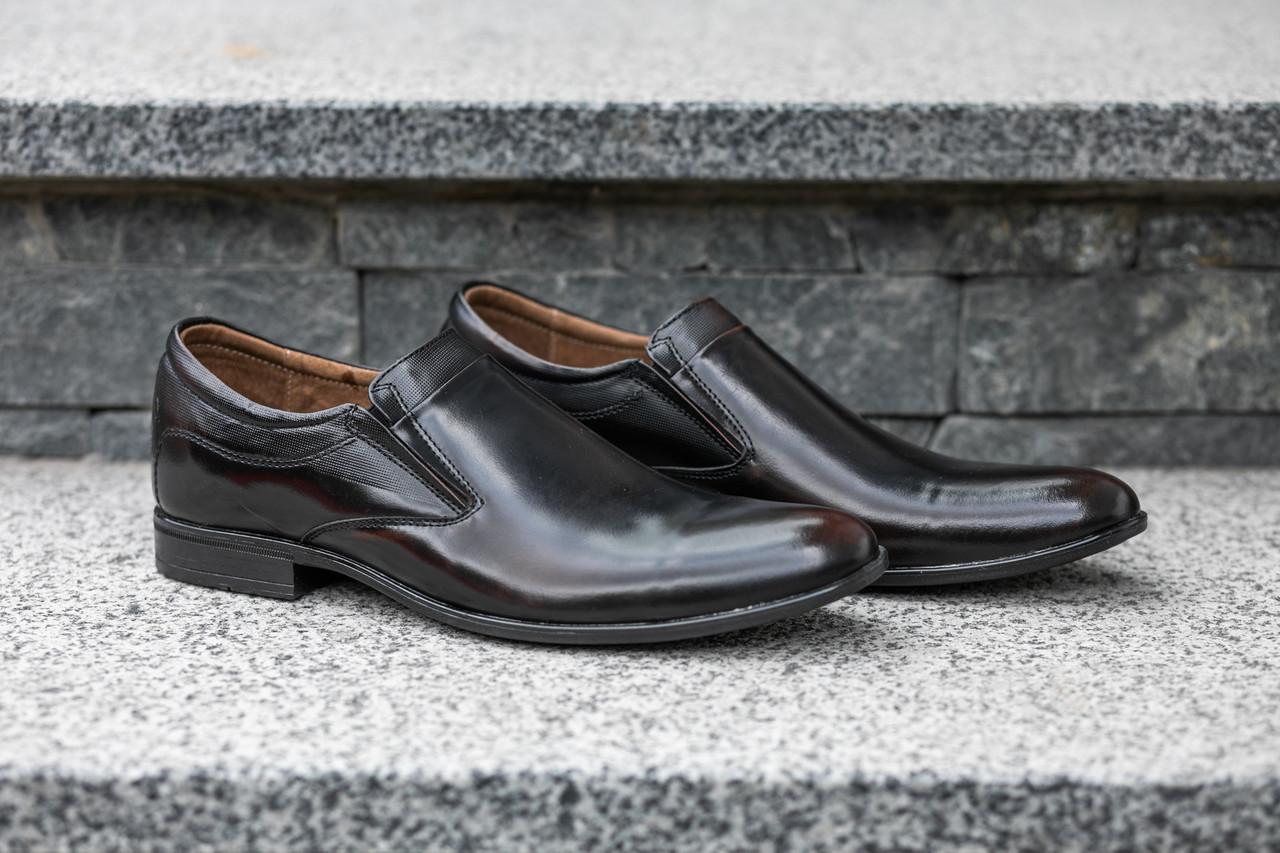 Туфлі коричнево-чорні