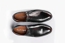 Туфлі коричнево-чорні, фото 3