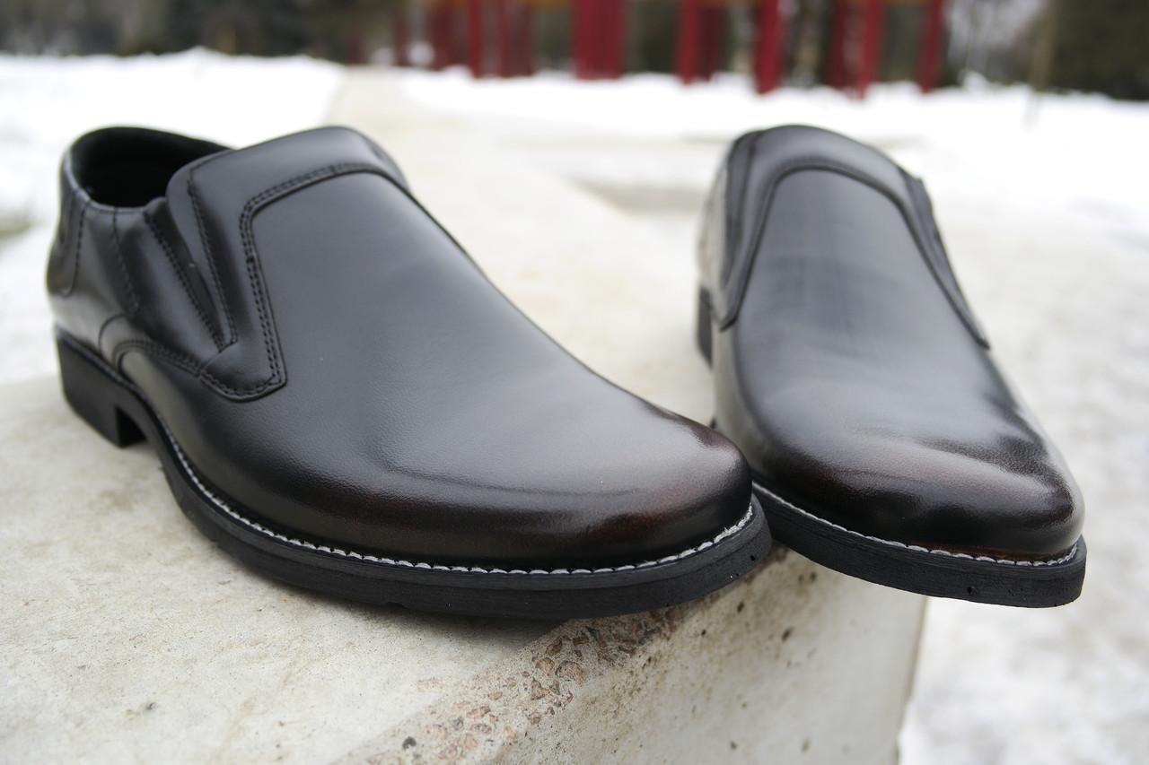 Обирай якісне! Шкіряні чоловічі туфлі від польського виробника.