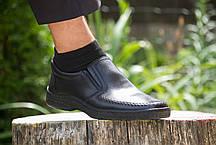 Комфортні чорні туфлі., фото 3