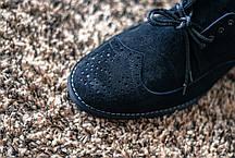 Броги замшеві, чорні., фото 2
