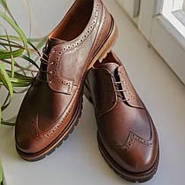 Туфлі броги руді, фото 2