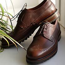 Туфлі броги руді, фото 3
