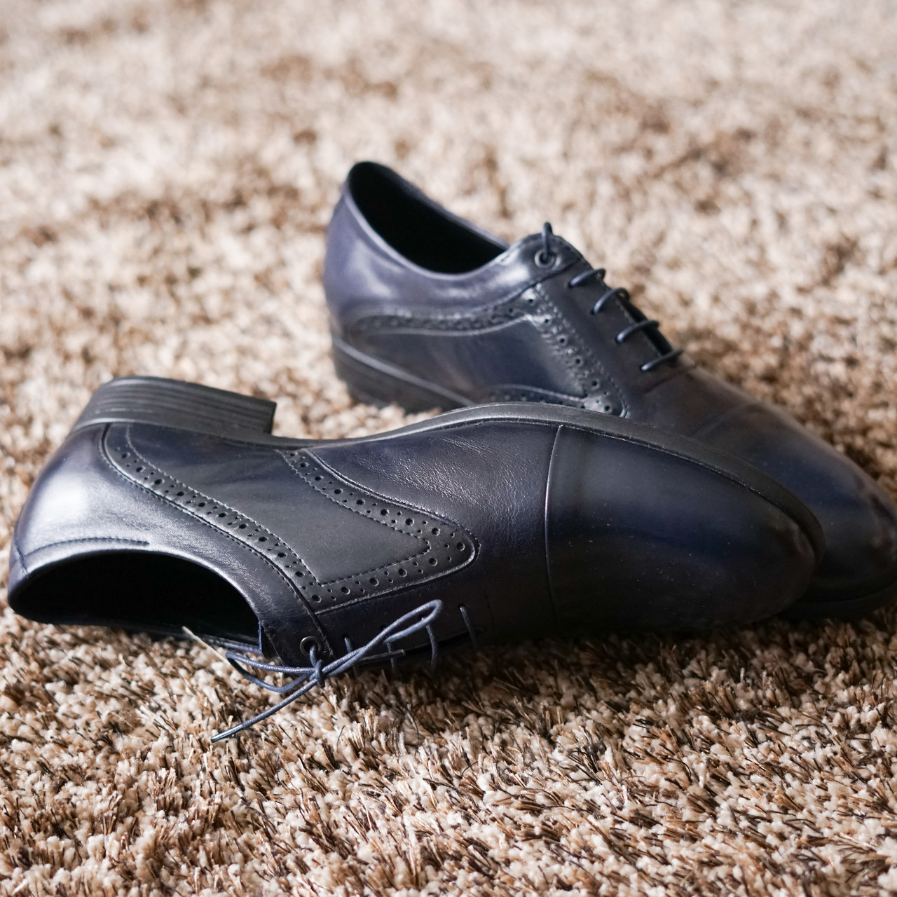 Туфлі броги сині.