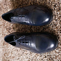Туфлі броги сині., фото 2