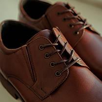 Коричневі туфлі Brogue, фото 2