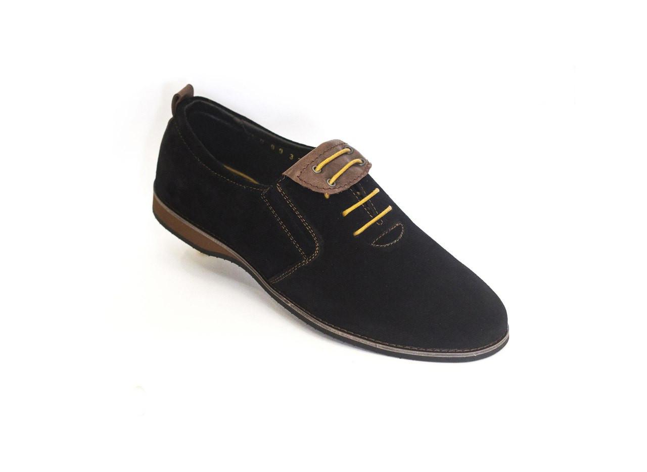 Туфлі замшеві VadRus чорні - 41,5 розмір