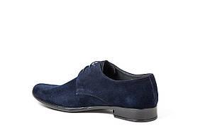 Чоловічі туфлі Mano замшеві, сині, фото 2