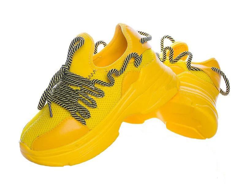 Жіночі кросівки жовті останній розмір 38