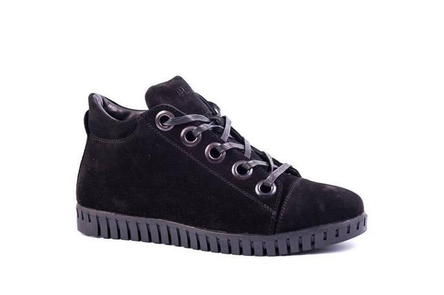 Черевики зимові Prime shoes замшеві чорні, фото 2