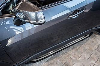 Подножки Toyota Rav4 (18-20) XA50 пороги ступеньки площадки (V2)