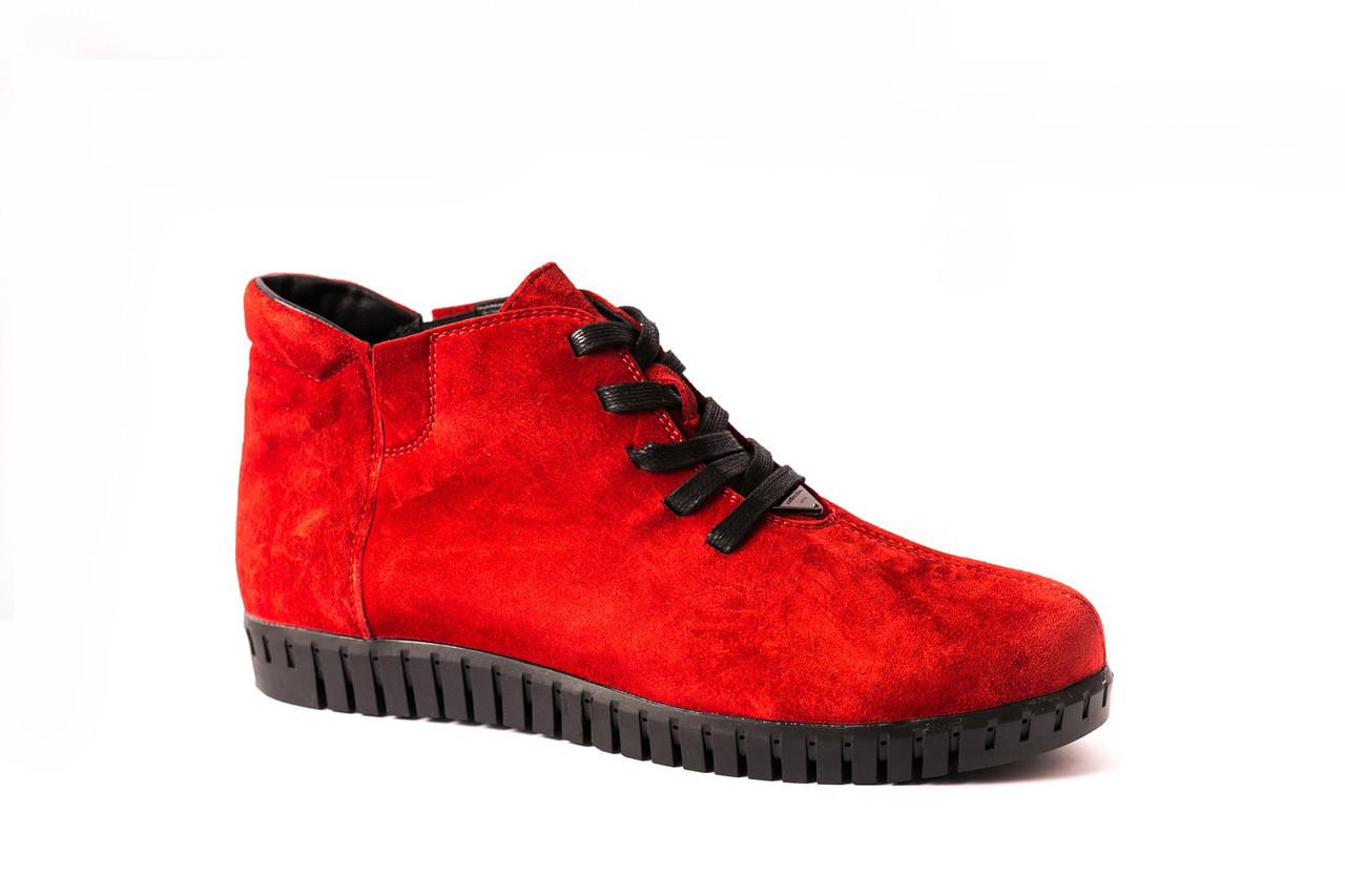 Червоні зимові черевики Prime shoes