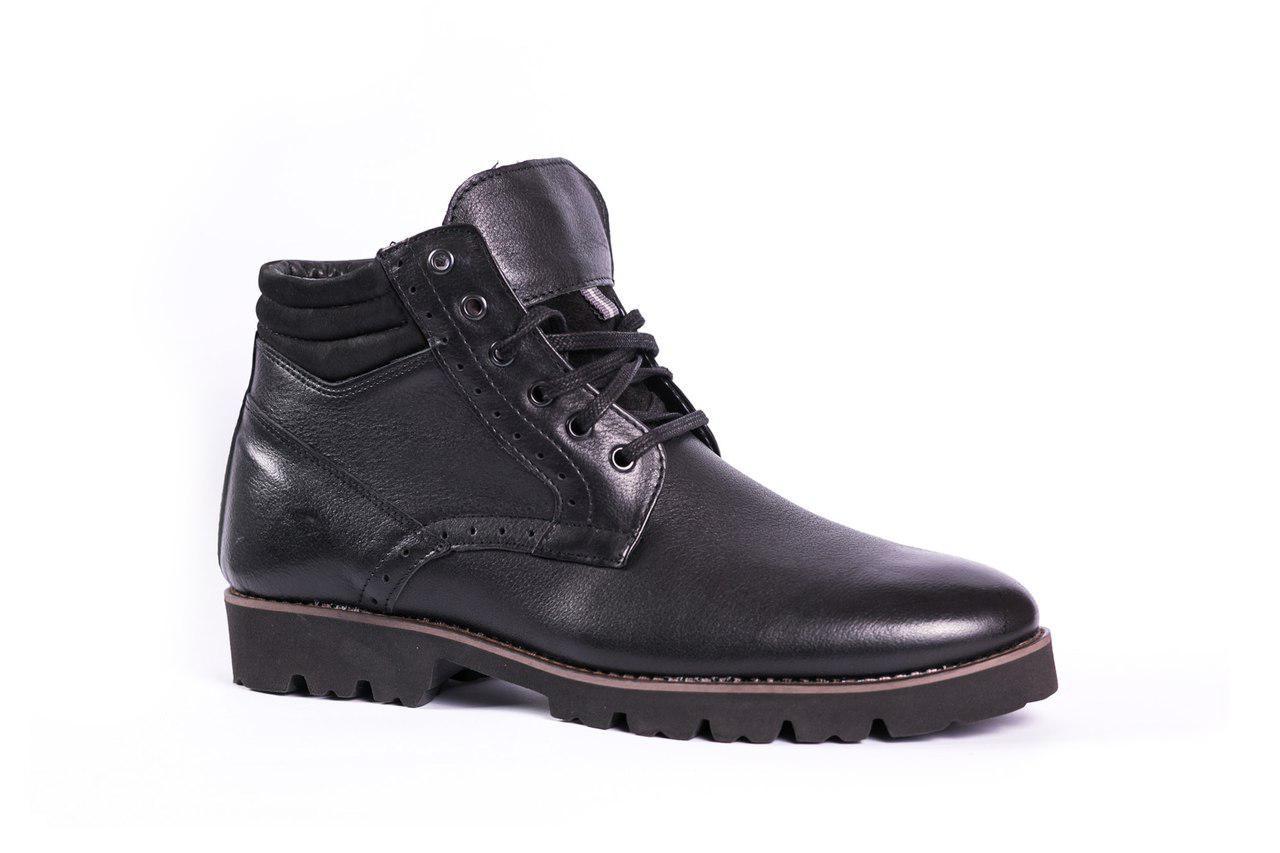 Чоловічі зимові черевики чорні Lemar