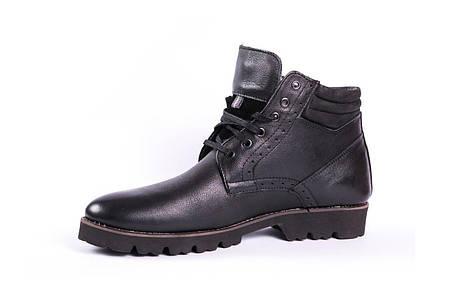 Чоловічі зимові черевики чорні Lemar, фото 2