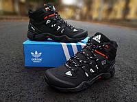 Мужские зимние кроссовки Adidas Terrex Gore Tex чёрные, фото 1