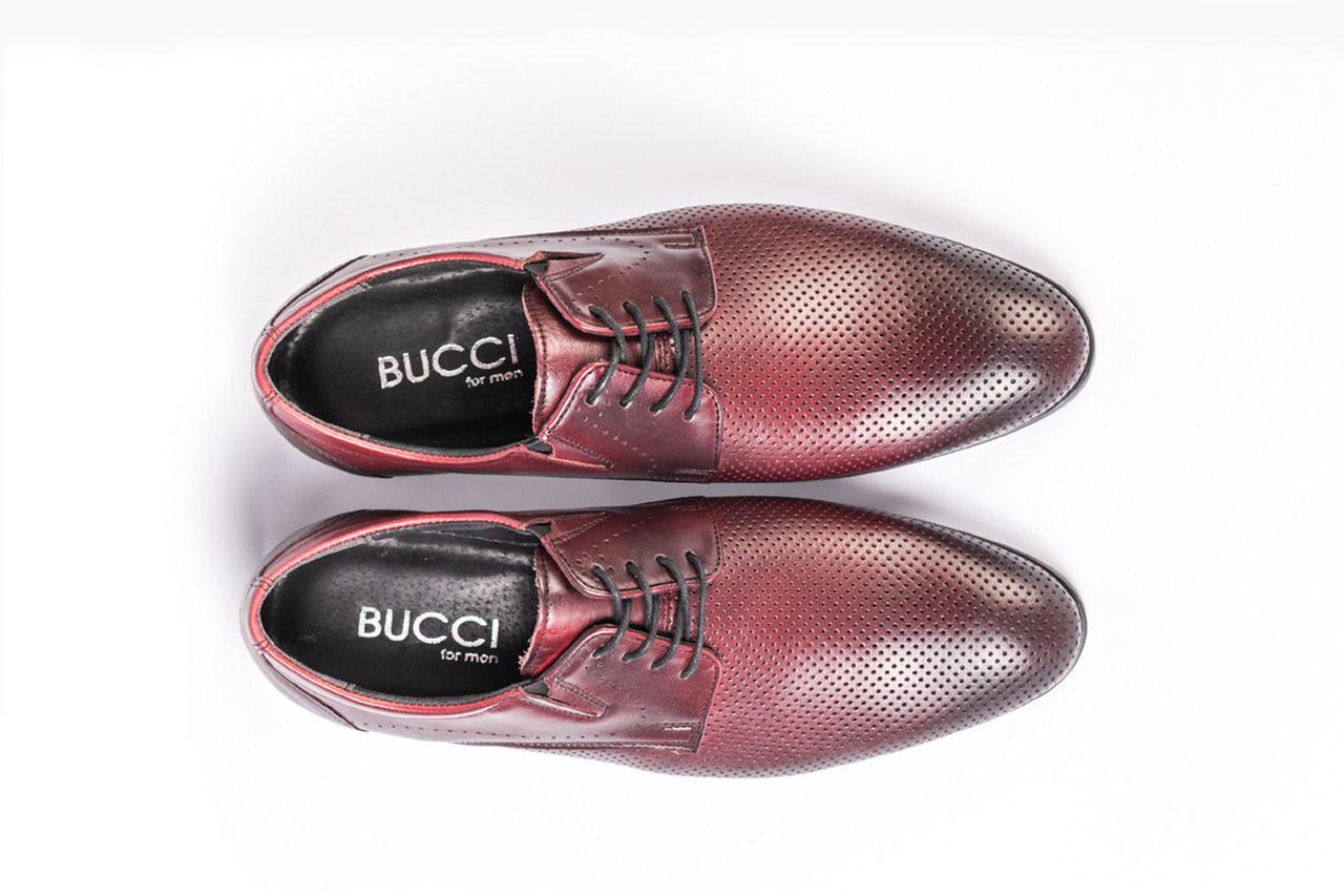 Туфлі літні Bucci бордові