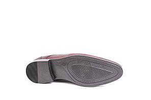 Туфлі літні Bucci бордові, фото 2