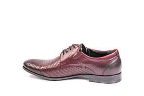 Туфлі літні Bucci бордові, фото 3
