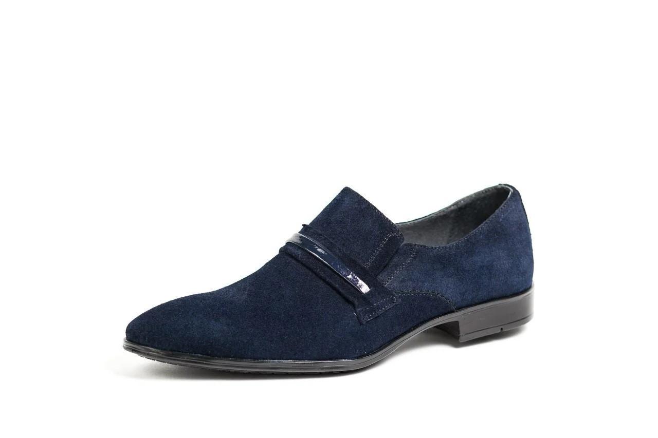Туфлі замшеві, сині.