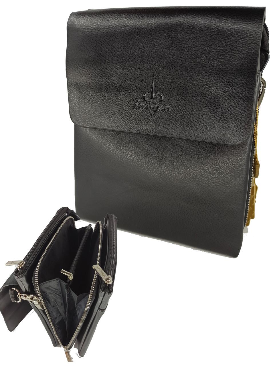 Мужская кожаная сумка через плечо Langsa 88846-1