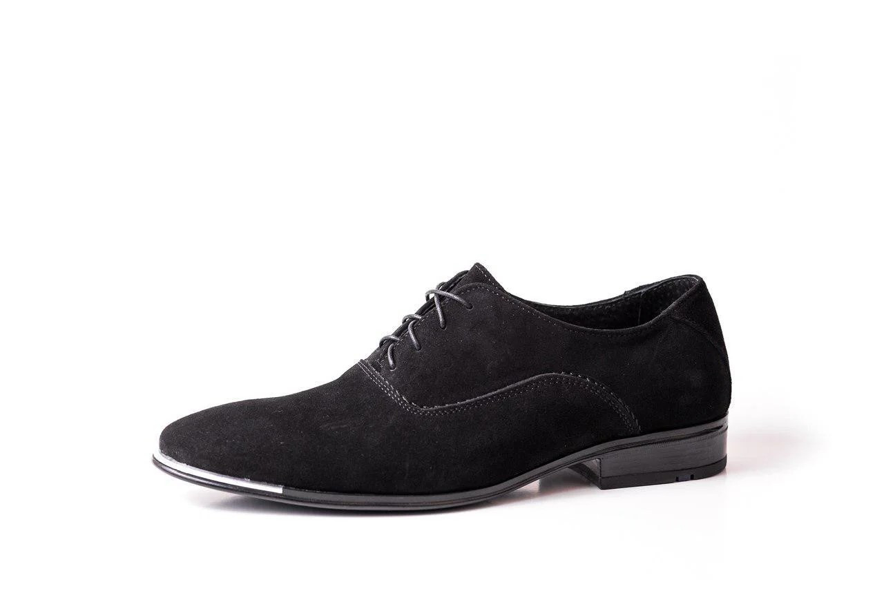 Туфлі замшеві чорні.