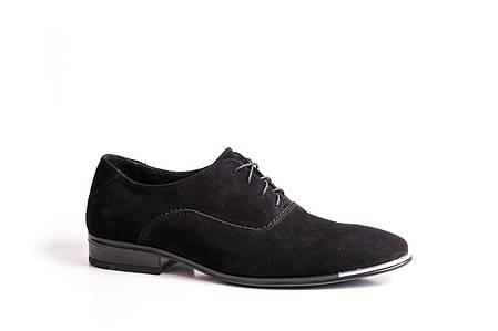 Туфлі замшеві чорні., фото 2