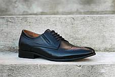 Туфлі броги, чорні ., фото 3