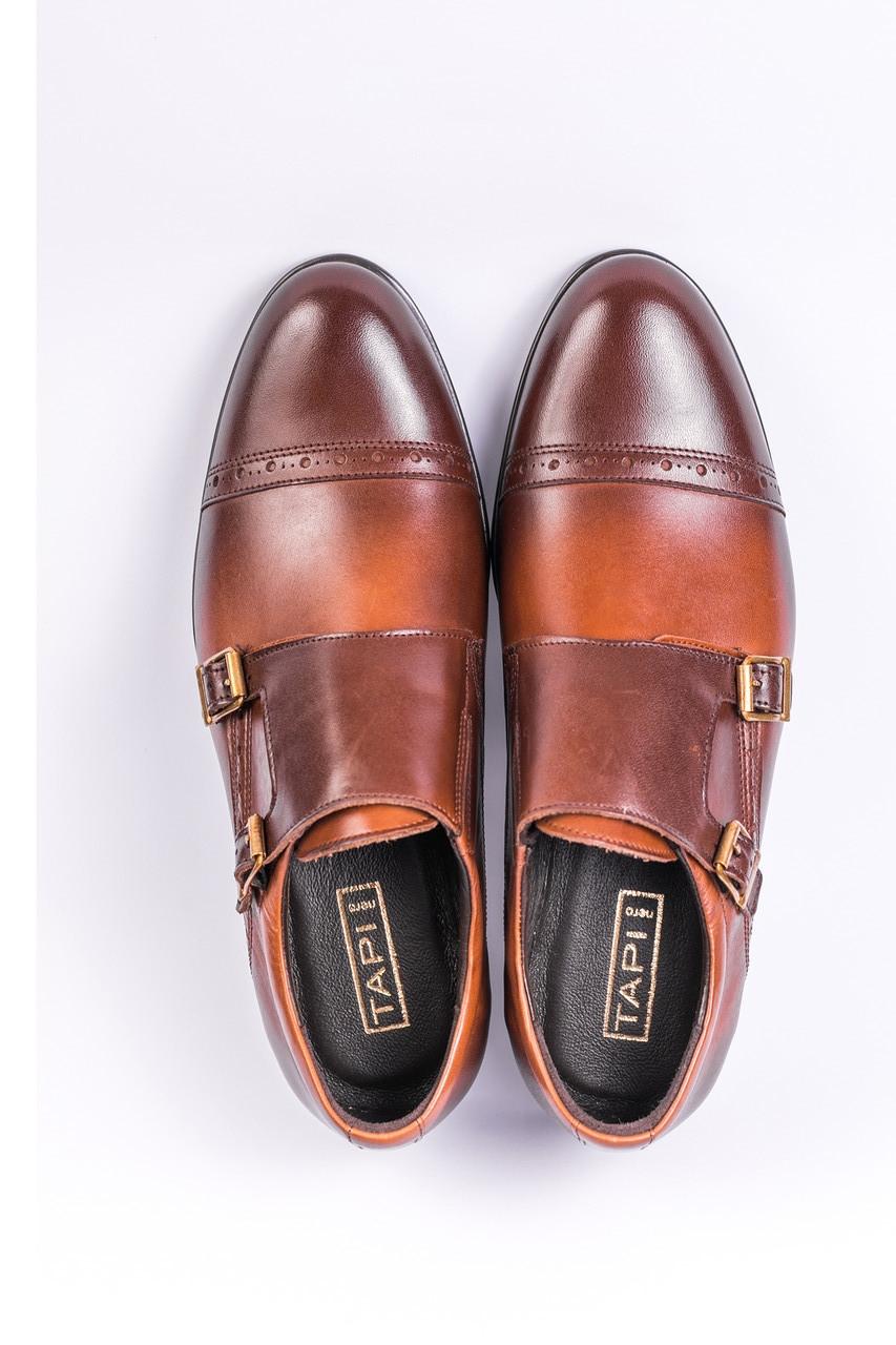 Туфлі монкі, коричневі.