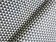 Сатин (бавовняна тканина) сірі трикутники, фото 2