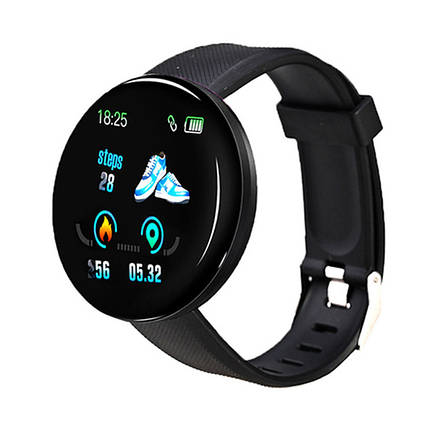 Смарт-часы Smart Watch D18 Black Bluetooth Android IOS, фото 2