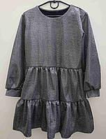 {есть:128} Платье c блестящим напылением для девочек,  Артикул: AS5428 [128]