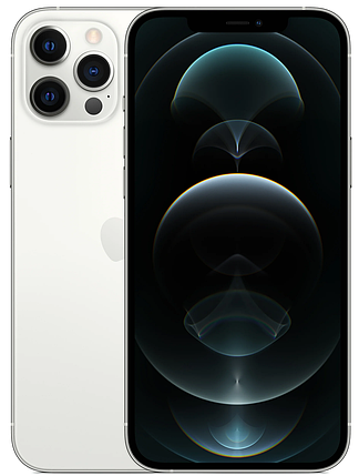 Смартфон Apple iPhone 12 Pro Max 128GB Dual Sim Silver (MGC13), фото 2