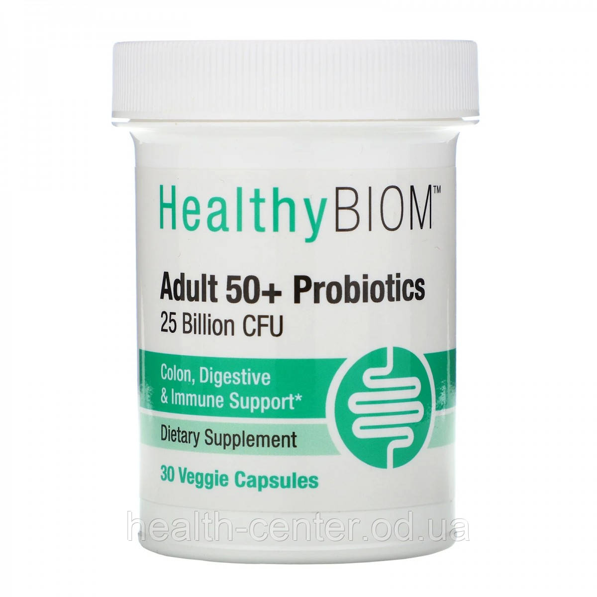 Пробиотики для взрослых 50+, 25 млрд 30 капс лакто-бифидобактерии HealthyBiom USA