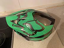 Детский зелёный  мото кроссовый шлем  фулфейс Fox  (эндуро, даунхил), фото 3