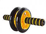 Тренажер ролик для пресса Фитнес колесо Double wheel Abs, фото 2