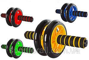 Тренажер ролик для преса Фітнес колесо Double wheel Abs