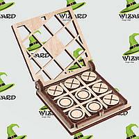 Механическая деревянная 3D модель Игра крестики-нолики №1