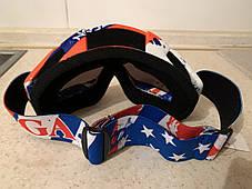 Разноцветная  красная маска  хамелеон очки для кроссового мотоцикла для горнолыжного шлема, фото 2