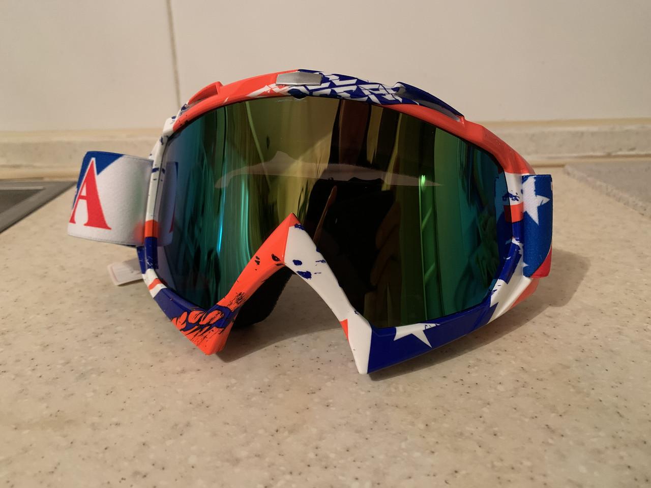 Разноцветная  красная маска  хамелеон очки для кроссового мотоцикла для горнолыжного шлема