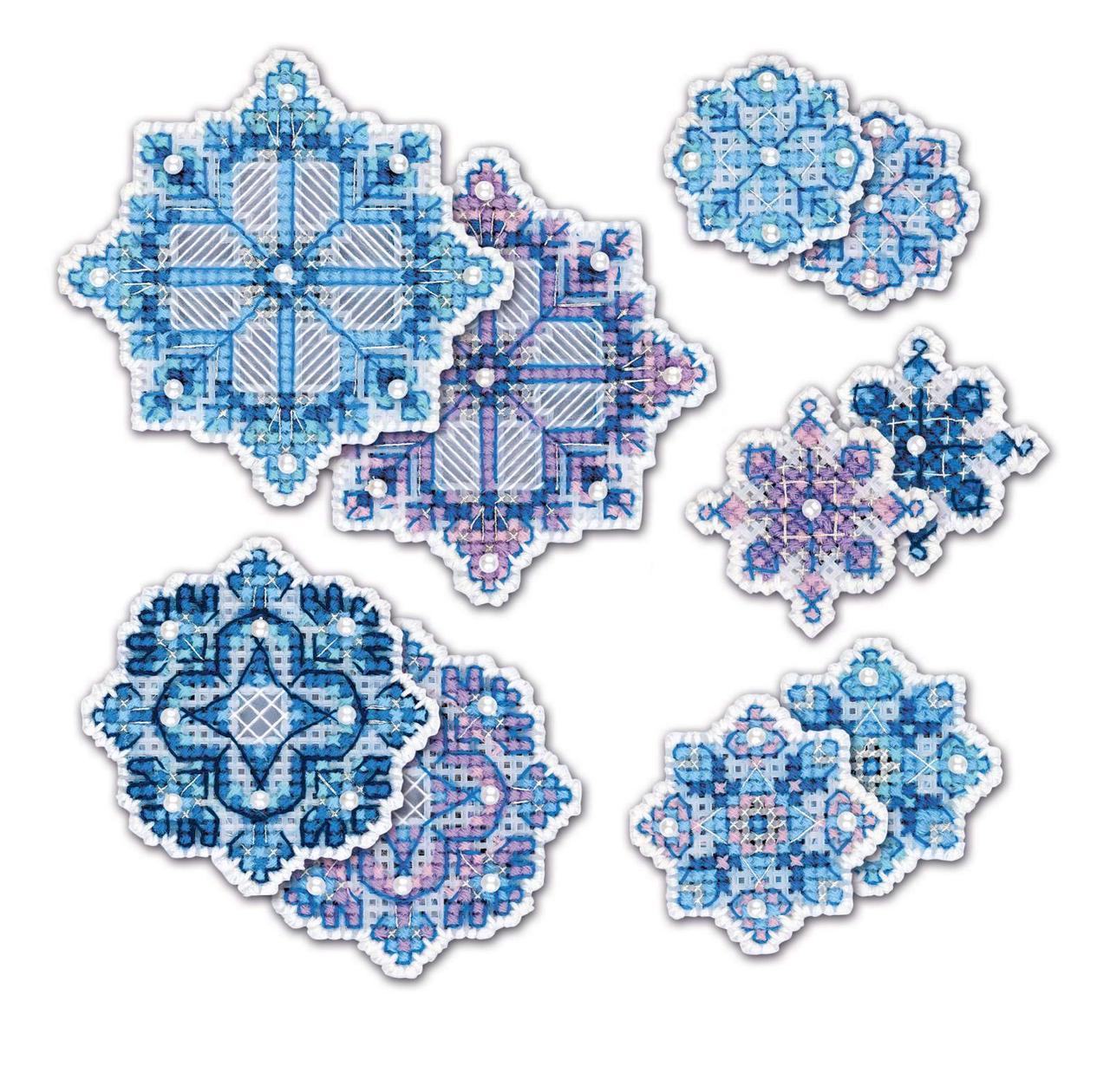Набор для вышивки крестом Риолис 1889АС «Украшение «Снежинки»