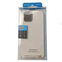 Силиконовый чехол SMTT для iPhone 12 PRO MAX защитный бампер накладка телефона Прозрачный