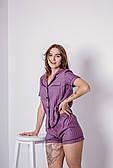 Пижама женская хлопковая с кантом в полоску