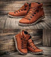Мужские зимние кожаные ботинки CAT Expensive Fox (реплика). Кроссовки зимние, спортивные ботинки