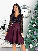 Платье нарядное стильное женское. Цвет: бежевый, красный, чёрный, кофе, марсала. Размер: 42-44, 46-48, 50-52.