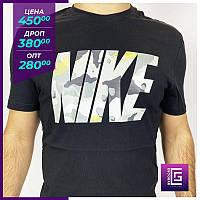 Мужская футболка Nike черный. Чоловіча футболка Nike чорний
